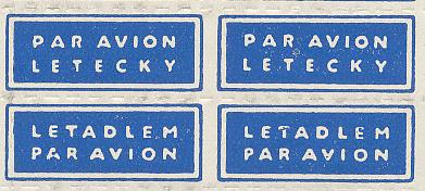 Letecké nálepky PAR AVION - LETECKY i LETADLEM
