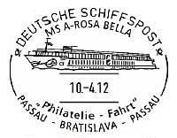 Lodní pošta na Dunaji v roce 2012