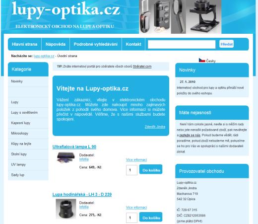 Lupy-optika.cz - internetový obchod na lupy a optiku