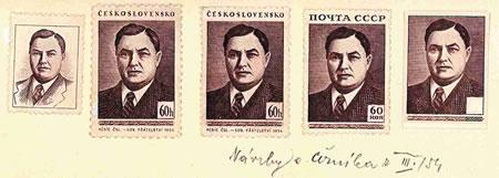 Merkur-Revue: G. M. Malenkov na známkách ČSSR a ZSSR?