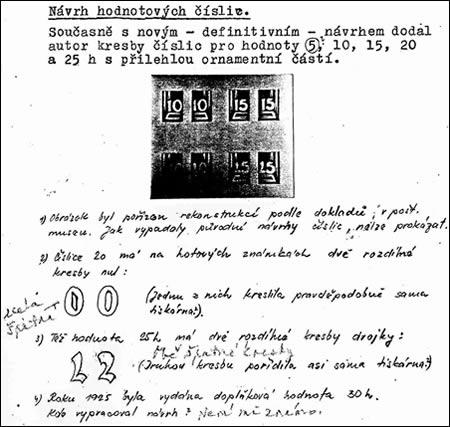 Merkur-Revue: Objev vlastnoručních poznámek prof. Bendy k emisi Holubice 1920