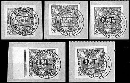 Merkur-Revue: Zneužité poštové pečiatky