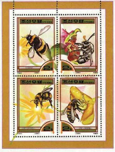 Motív včiel a včelárstva na poštových známkach III.