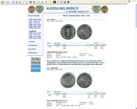 Multimediální katalog mincí na CD-ROMu