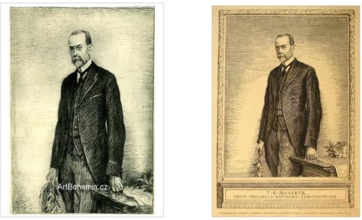 Návrh predlohy TGM 1920 alebo príbeh známky a vavrínovej vetvičky