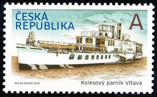 Něco navíc k nové české známce - Parník Vltava