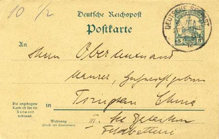 Německé kolonie a jejich pošta