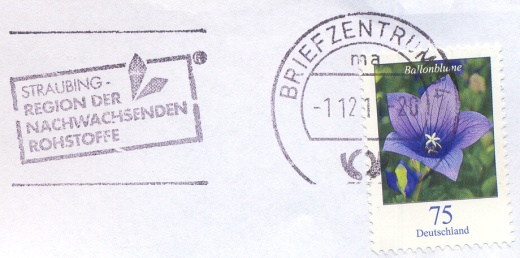 Německé razítka Briefzentrum