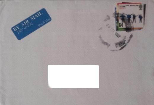 Neobyčajná  britská poštová  známka