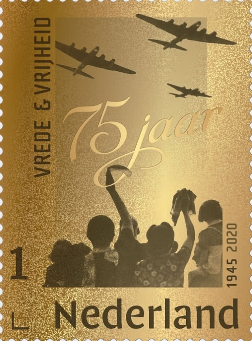 Nizozemské známky k 75. výročí konce druhé světové války