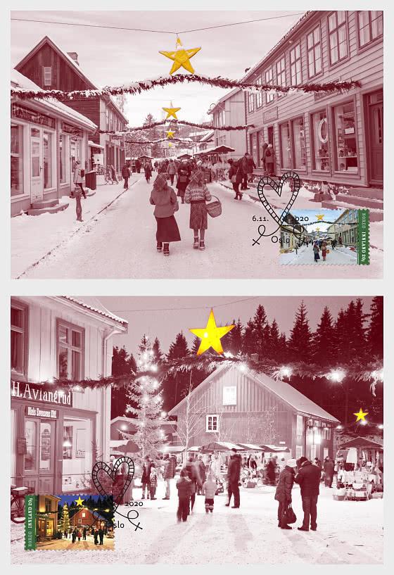 Norské vánoční známky 2020