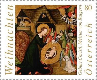 Nová rakouská vánoční známka - bohemikum