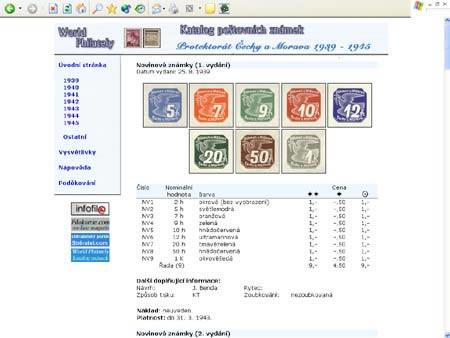 Novinka: CD-ROM World Philately 2005 - Protektorát Čechy a Morava (1939-1945)