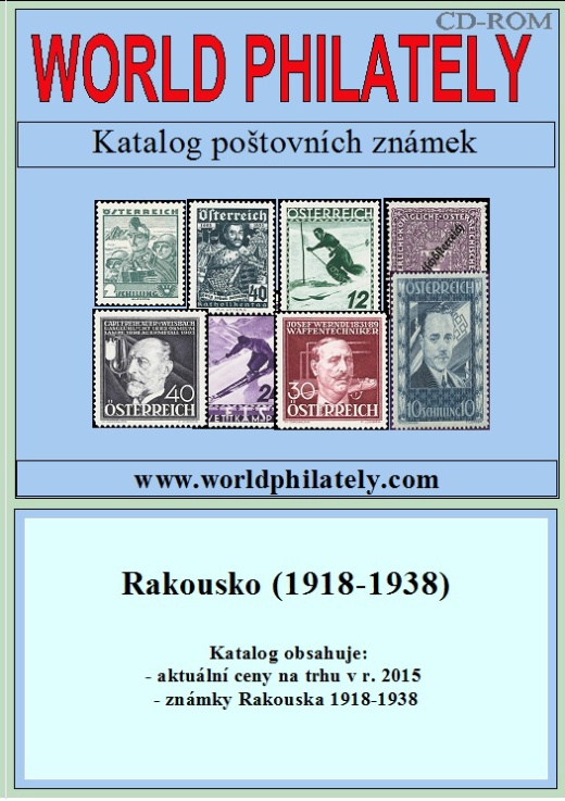Novinka - CD-ROM World Philately 2016 – Rakousko (1918-1938)