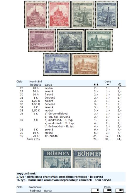 Novinka! Katalog poštovních známek - Protektorát Čechy a Morava (1939-1945) - World Philately 2010