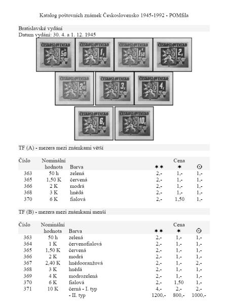 Novinka na našem trhu - tištěné katalogy poštovních známek POMfila!