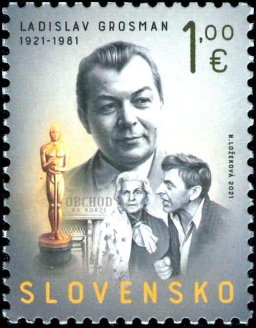 Obchod na korze na nové slovenské známce