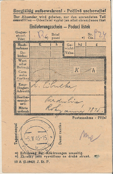 Pardubice 5. V. 1945