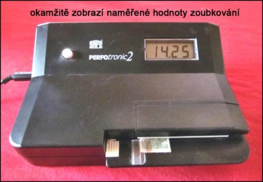 Perfotronic 2 - přístroj na měření zoubkování poštovních známek