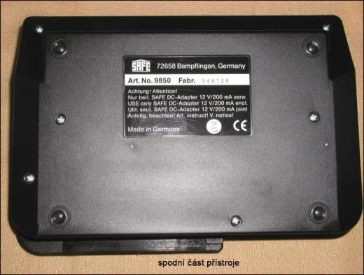 Perfotronic 2 - přístroj pro měření zoubkování poštovních známek