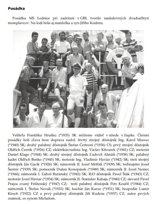 Peter Valdner - Great Bitter Lake Association – Lednice v zajatí na Sueze 1967/75