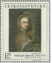 Petr Jan Brandl - autoportrét