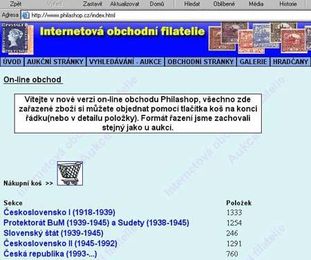 Philashop.cz -  on-line obchod v provozu