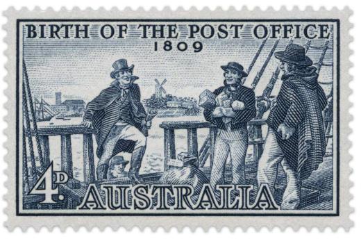 Počátky pošty na australském kontinentě
