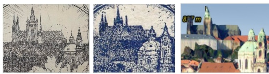 Pohľad Alfonsa Muchu na Hradčany
