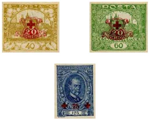 Príplatkové výplatné známky v prospech Červeného kríža