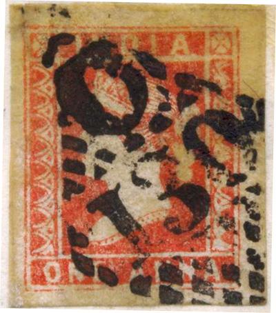 První indické známky