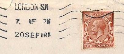 První světová válka zapříčinila konec 1-pennyového vnitrostátního poštovného ve Velké Británii