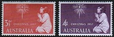 První vánoční známky