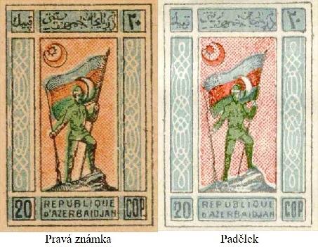 První známky a padělky Azerbajdžánské demokratické republiky