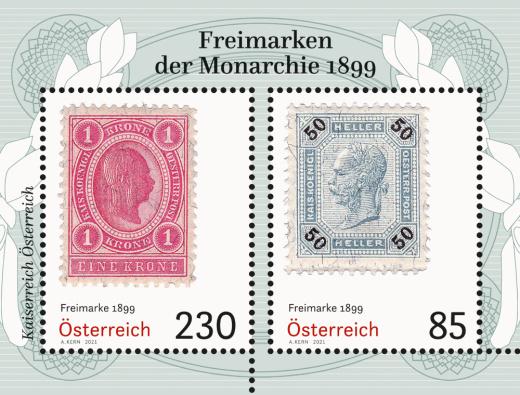 Rakouská emise 2021 - Výplatní známky monarchie