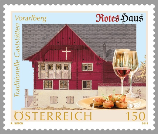 Rakouská gastronomie na známkách