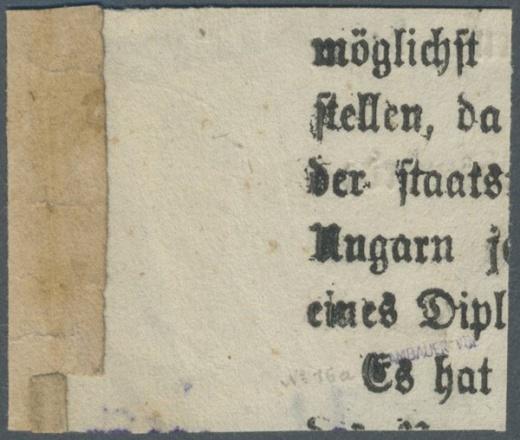Rakousko novinová č. 16 - emise 1858 - nebezpečný padělek