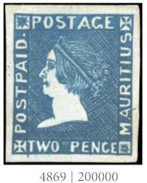 Rekordní cena za známku MAURITIUS POST PAID vydání SHERWIN