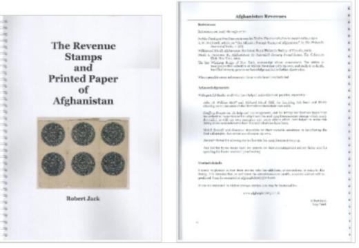 Robert Jack – významný sběratel známek Afghánistánu