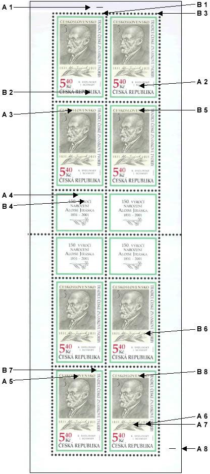 Rozlišení známkového sešitku Tradice české známkové tvorby (č. 281)