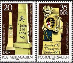 Saské poštovní mílníky