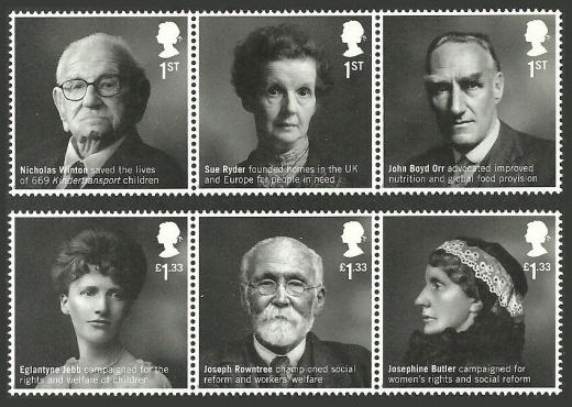 Sir Nicholas Winton na britské známce
