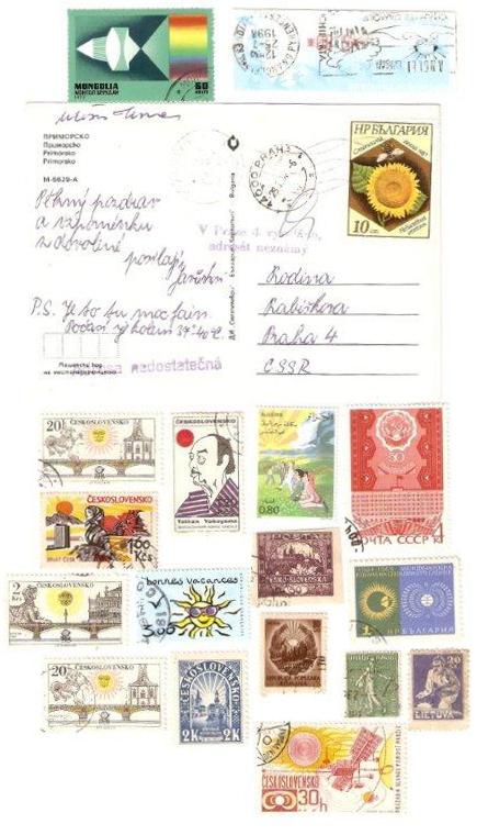 Slnko na poštových známkach