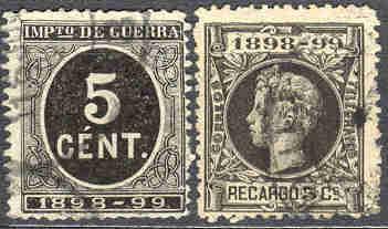 Španělské známky válečné daně