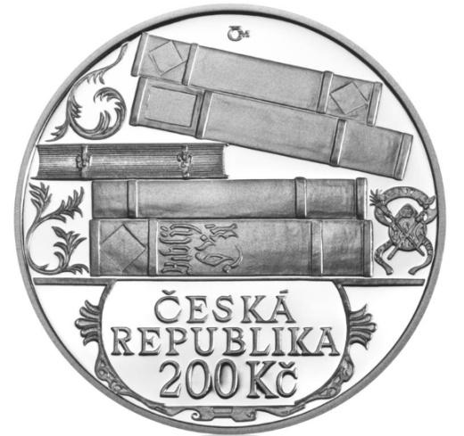 Stříbrná 200 Kč mince Jiří Melantrich z Aventina proof