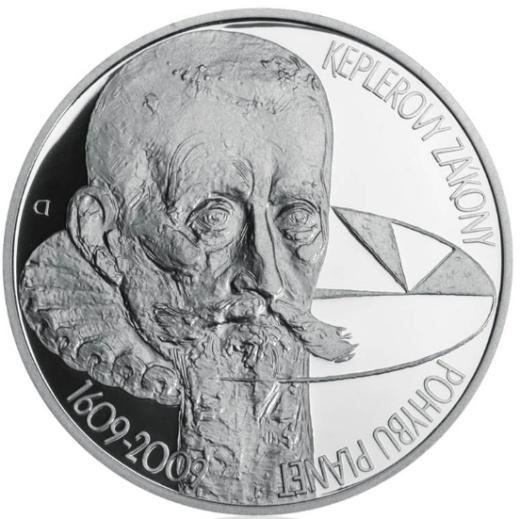 Stříbrná 200 Kč mince Keplerovy zákony proof