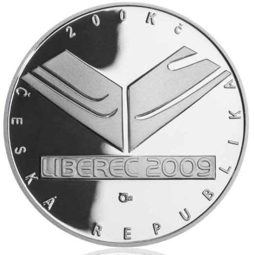 Stříbrná 200 Kč mince Mistrovství světa v klasickém lyžování proof