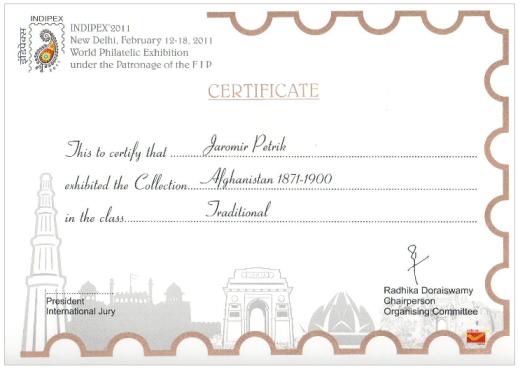 Světová filatelistická výstava INDIPEX 2011