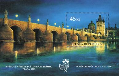 Světová výstava poštovních známek PRAGA 2008 - Karlův most – 650 let
