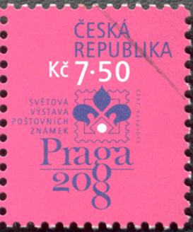 Světová výstava poštovních známek PRAGA 2008 - logo výstavy
